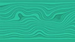 Beautiful hypnotic abstract curly waves and lines loopable pattern. Jungle green Stock Footage