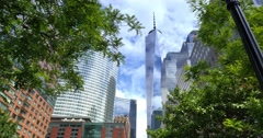 Freedom Tower Daytime Establishing Shot  	 Stock Footage