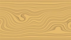 Beautiful hypnotic abstract curly waves and lines loopable pattern. Sand yellow Stock Footage
