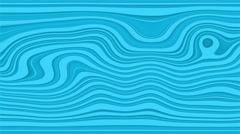 Beautiful hypnotic abstract curly waves and lines loopable pattern. Vivid Stock Footage