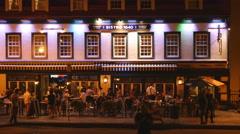 Bistro 1640 restaurant in Ville de Quebec, Quebec, Canada. Stock Footage