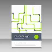 Abstract piping pattern. Cover design Stock Illustration
