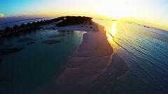 Art Beautiful sunrise over the tropical beach, Maldives Stock Footage
