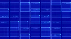 4k Virtual number square,science tech lines matrix grid scanning background. Stock Footage