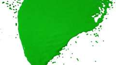 green paint dripping down over screen - stock footage