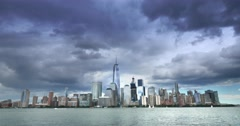 Time Lapse View of Lower Manhattan Stock Footage