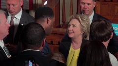 Hillary Greeting the Crowd in Springfield, IL Stock Footage