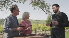 Senior couple at wine tasting - stock footage