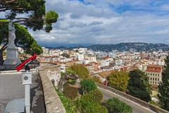 Panoramic view of Cannes, France Stock Photos
