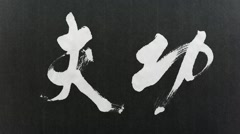 "Handwriting of Chinese characters, ""KONGFU"" Stock Footage"