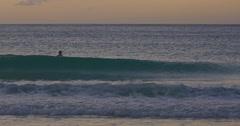 Swimmer at Spirits bay beach, northland, New Zealand Stock Footage