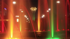 Fountains Bayterek 4K Time Lapse Zoom Out Stock Footage
