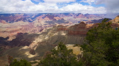 MoCo Tracking Time Lapse of Cloud Shadow over Grand Canyon National Park  Stock Footage