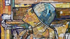 Picture of a Mosaic in the Park Stock Footage