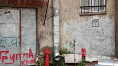 Graffiti on the Walls - stock footage