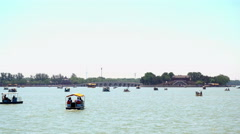 Kunming lake, and Seventeen Arches Bridge in Summer Palace Stock Footage