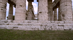 Paestum archaeological site in Italy Stock Footage