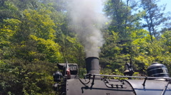 Old Train Steam Locomotive Smoke Stack Stock Footage
