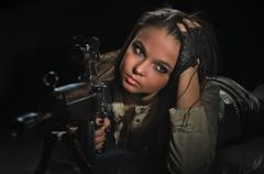 Army girl Stock Photos