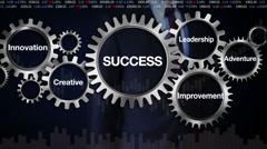 Gear, Leadership, Innovation, Creative, Adventure, Businessman 'SUCCESS' - stock footage