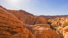 MoCo Tracking Time Lapse of Sunset over Red Rocks in Valley of Fire SP Long Shot Stock Footage
