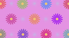 Rotating flowers and sparkles with seamless loop, 4K Stock Footage
