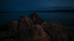 Time lapse Lake Baikal Stock Footage