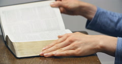 Hands Come Together for Prayer Stock Footage