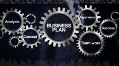 Gear keyword, Analysis, Experience, Concept, Businessman 'BUSINESS PLAN' Stock Footage