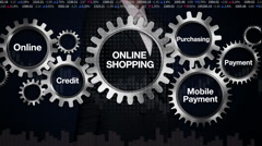 Gear keyword, Online, Credit, Purchasing, Businesswoman 'ONLINE SHOPPING' Stock Footage