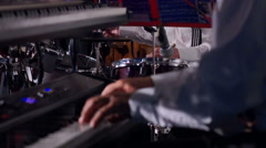 Man Playing The Synthesizer Keyboard. Stock Footage