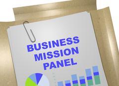 Business Mission Panel concept Stock Illustration
