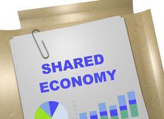Shared Economy concept Stock Illustration