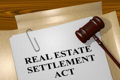 Real Estate Settlement ACT concept Stock Illustration