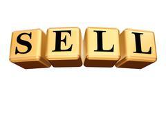 Golden sell isolated Stock Illustration