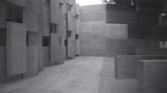 Empty dark abstract concrete room interior. Architectural background Stock Footage