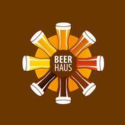 Vector beer logo Piirros
