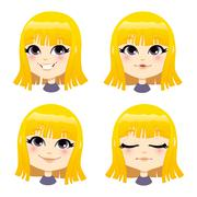 Sweet Blond Girl Stock Illustration