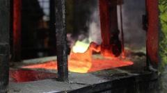 Metalworking metal smelting industry Stock Footage
