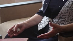Hands of an old woman Stock Footage