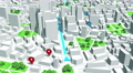 Localization, GPS Navigation, Path Finding in the city. Routing. Footage