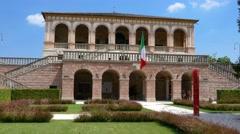 Padua - Villa dei Vescovi - The courtyard Stock Footage