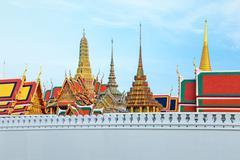 Wat Phra Kaew - The Temple of Emerald Buddha in Bangkok, Thailand Stock Photos