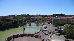 Castel Sant'Angelo lookout Stock Footage