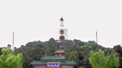 Beihai, Beautiful Scene of Beijing Imperial Park Stock Footage