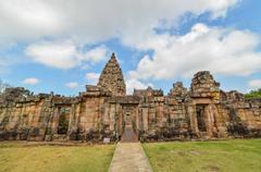 Stone castle in Prasat Hin Phanom rung Historical Park, Thailand Stock Photos