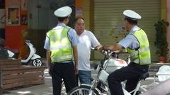 Shenzhen, China: traffic police to deal with traffic problems Stock Footage