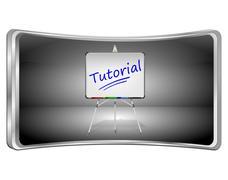 Tutorial Button - 3D illustration Stock Illustration
