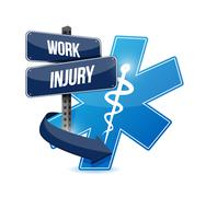 Working injury sign concept graphic - stock illustration