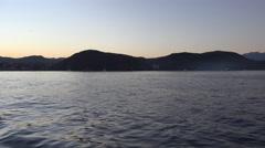 4k Seaside coastline Flores island early morning sunrise Stock Footage